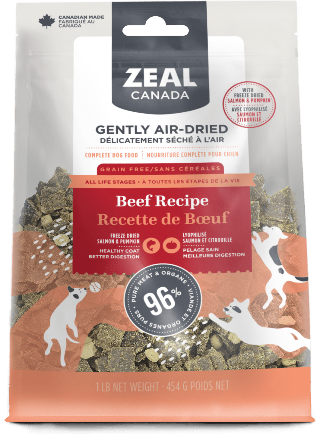 product image for Gently Air-Dried Beef with Freeze-Dried Salmon & Pumpkin for Dogs