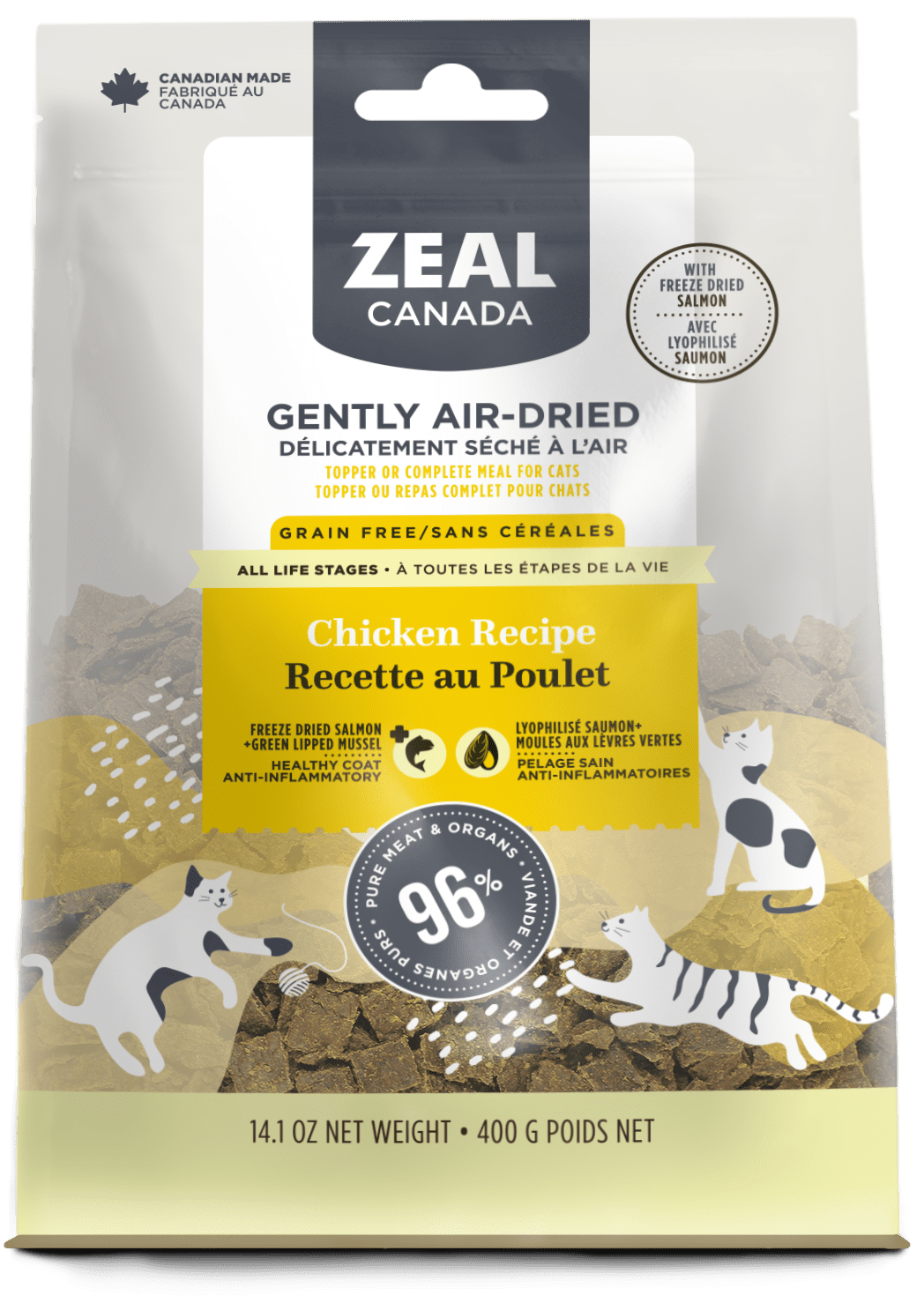 product image for Gently Air-Dried Chicken with Freeze-Dried Salmon for Cats