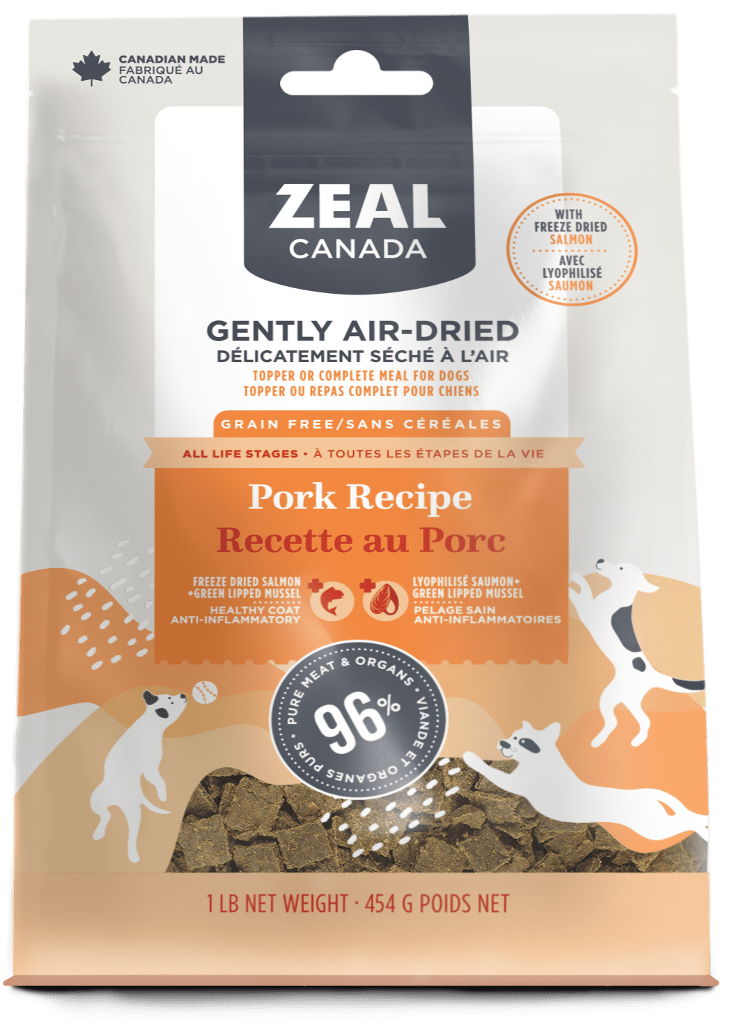product image for Gently Air-Dried Pork with Freeze-Dried Salmon for Dogs